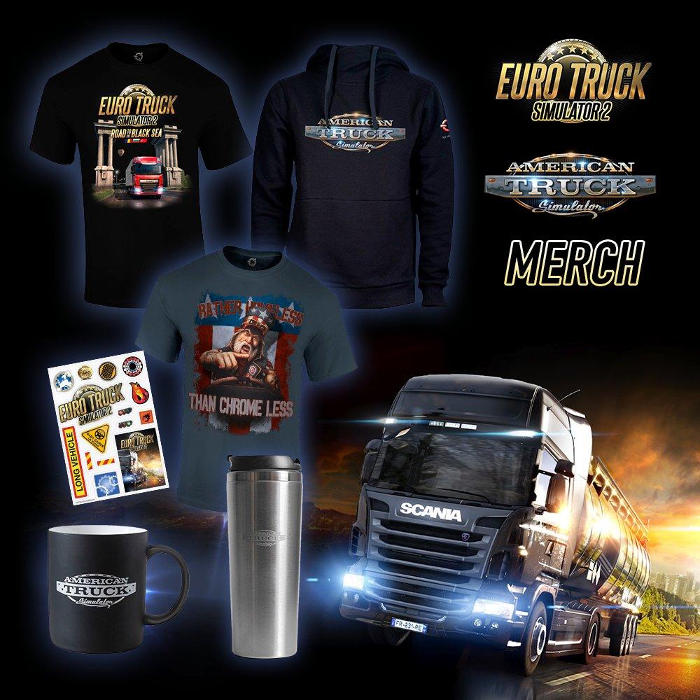 Truckerský merch pro fanoušky kamionových her SCSMERCH FB