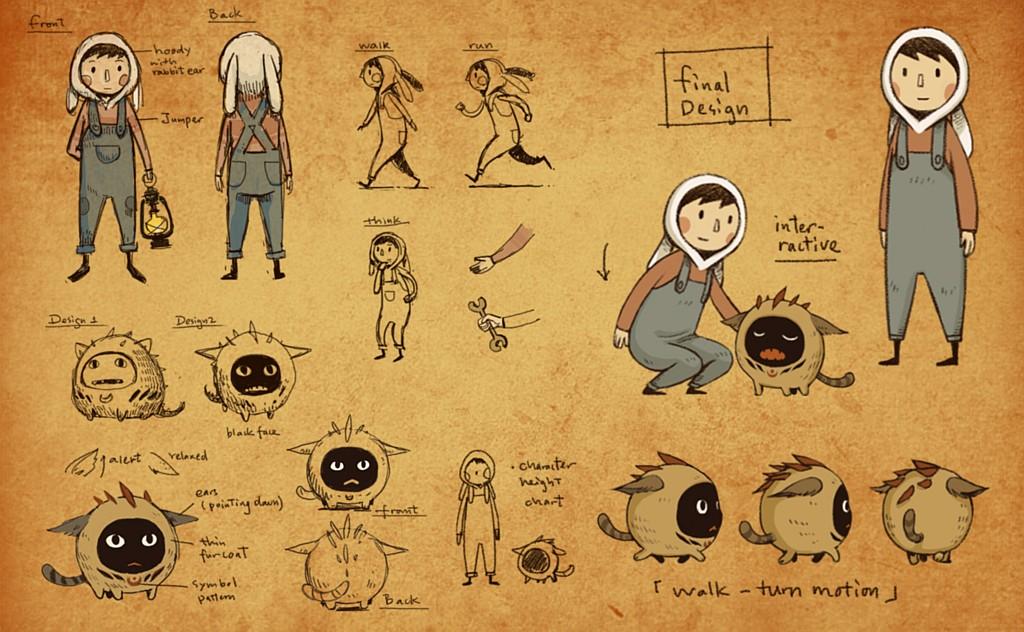 Ručně kreslená LUNA The Shadow Dust lunadesign