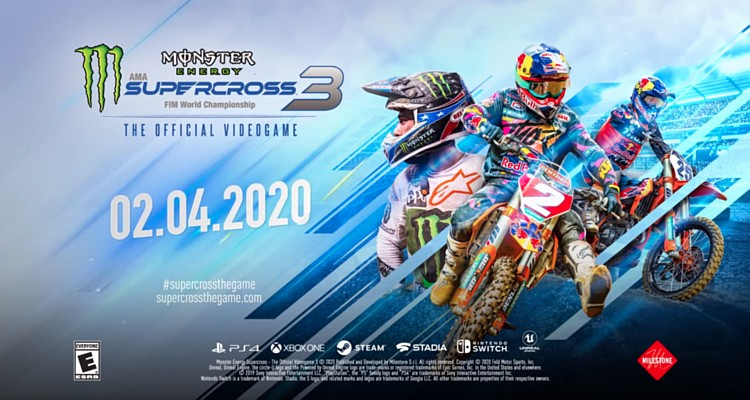 Monster Energy Supercross 3 za dveřmi monstersupercross3promo