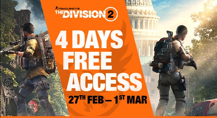 The Division 2 zdarma na víkend thedivision2free2