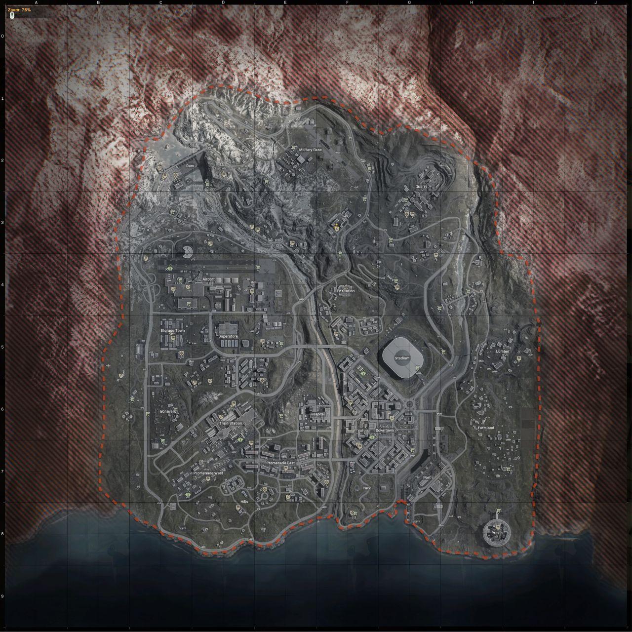 Mapa Verdansku.