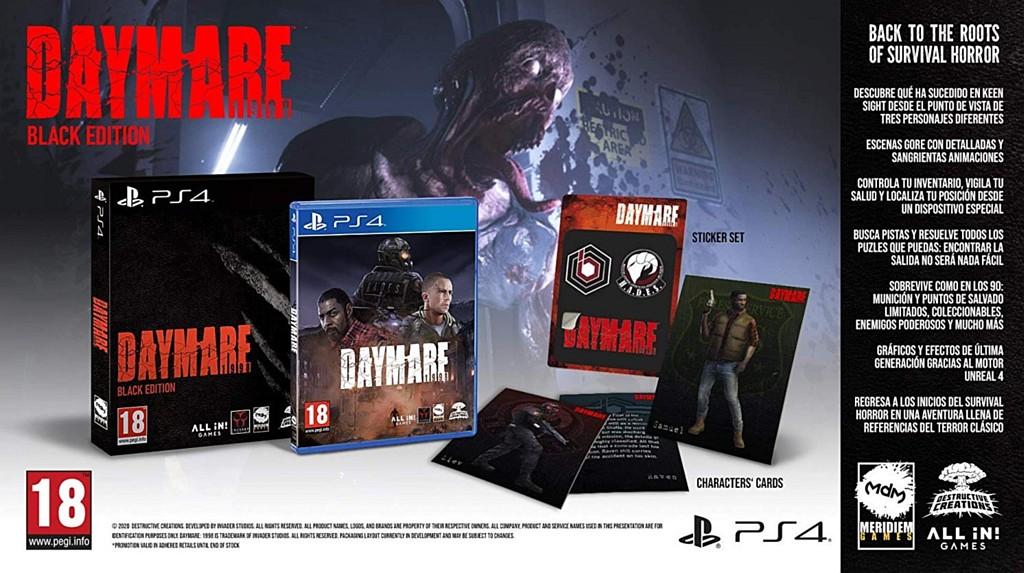 Horor Daymare: 1998 vydán i na konzole daymareblack