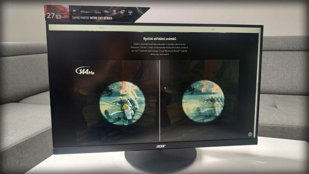 Herní IPS monitor se 144Hz a 1ms odezvou takový je Acer Nitro XV272 ilustrace3 acer nitro xv272