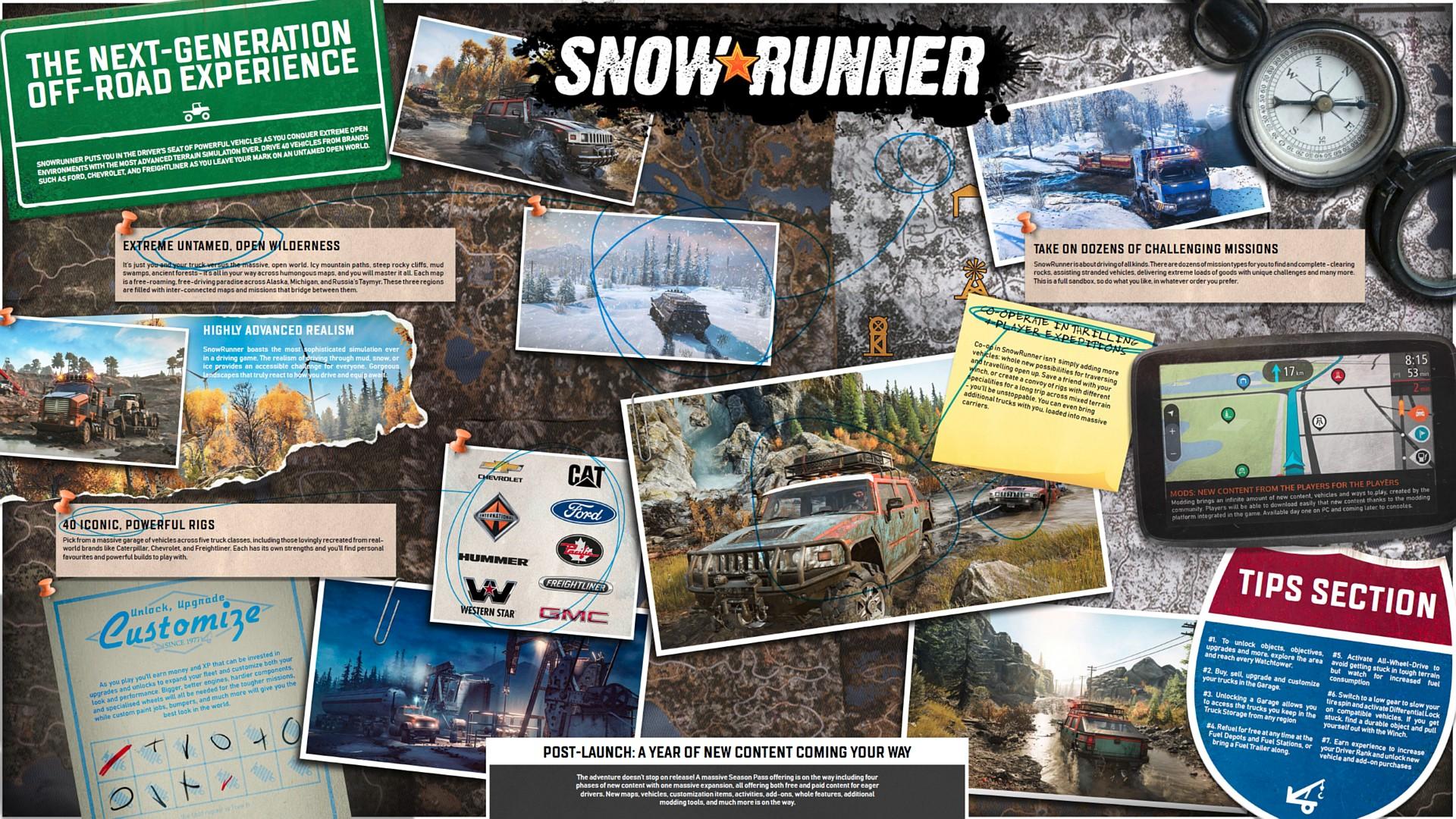 Co všechno nabídne SnowRunner? snowrunnerdashboard