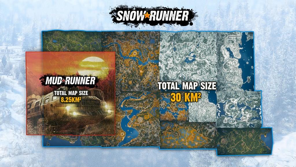 Co všechno nabídne SnowRunner? snowrunnermap