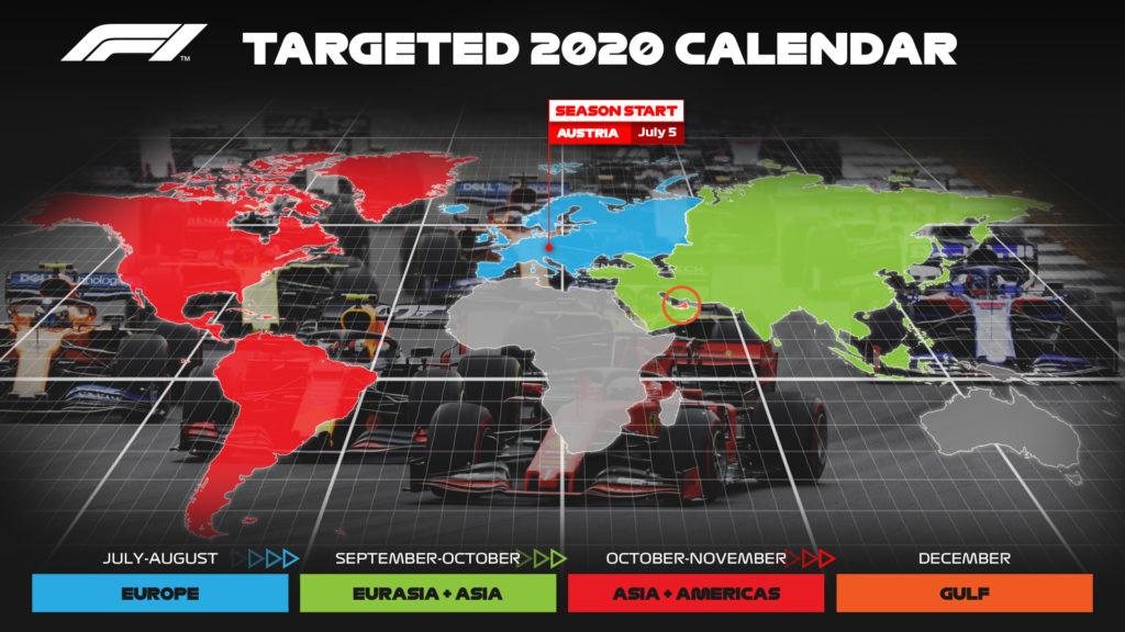 Divoký svět Formule 1 F1 Revised Calendar V4