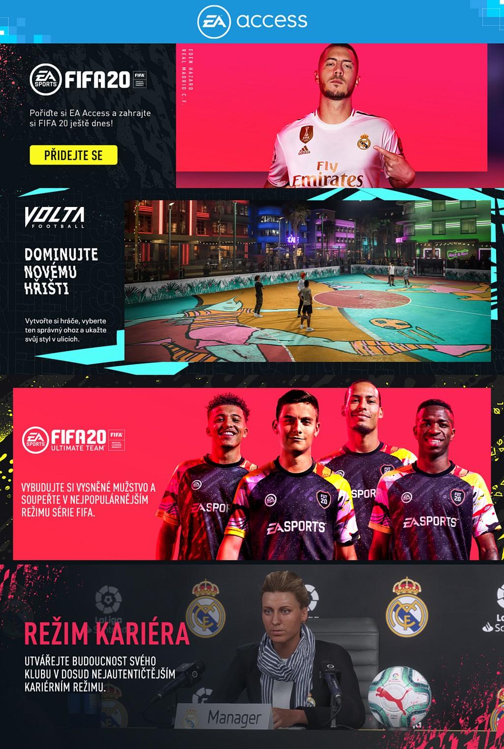 FIFA 20 nově součástí EA Access/Origin fifa20eavault