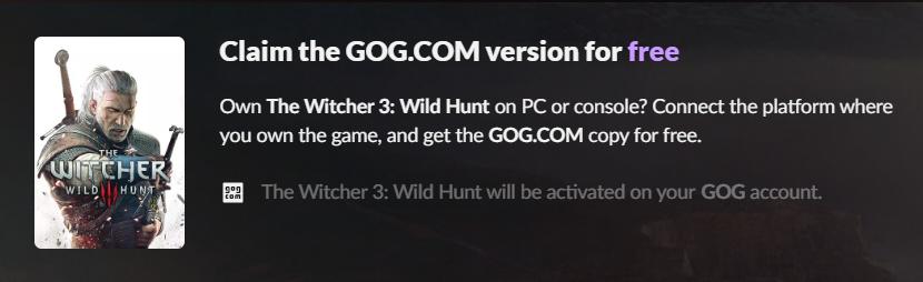 Zaklínač 3 na GOGu zdarma pro majitele jiných verzí hry Bez názvu 3