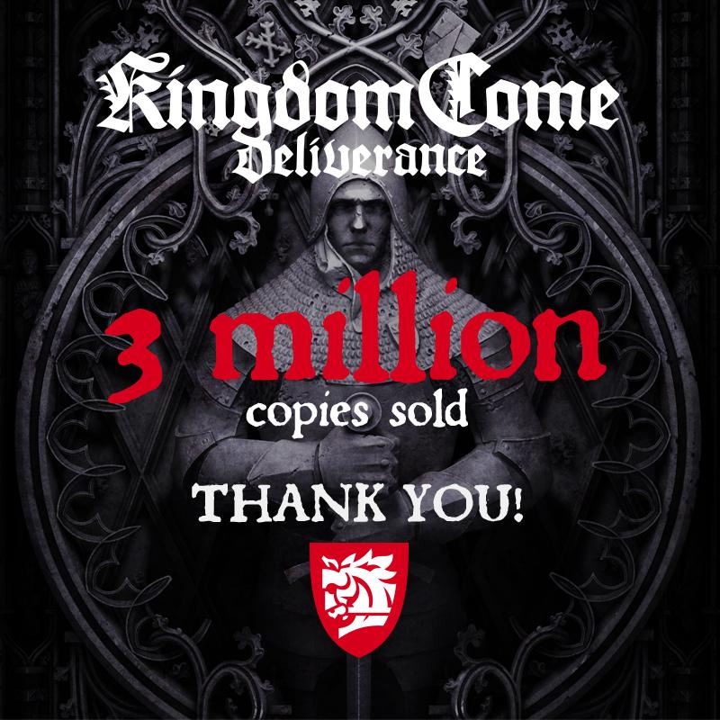 Kingdom Come: Deliverance slaví 3 milióny prodaných kopií Kingdom Come Deliverance 06 16 20 Sales