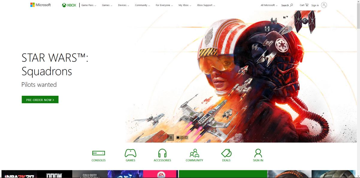 Xbox prozradil hru Star Wars: Squadrons unknown