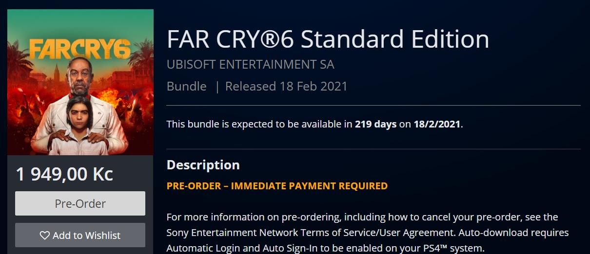 Aktualizováno: V Česku si za nové hry od Ubisoftu připlatíme Far Cry 6 PS
