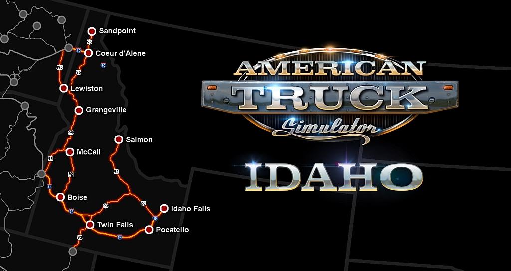 Idaho pro American Truck Simulator atsidahodlcmap
