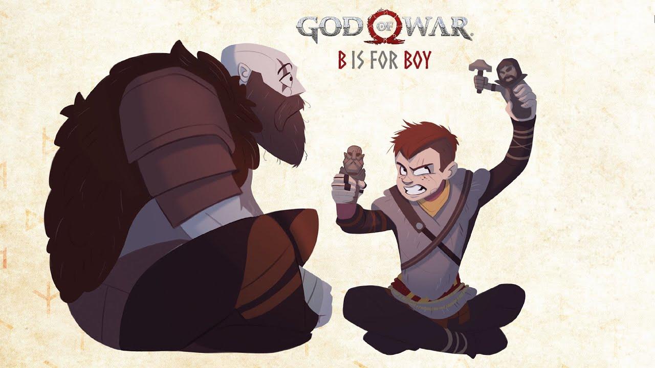 God of War se dočká dětské knižní adaptace b is for boy bro 1