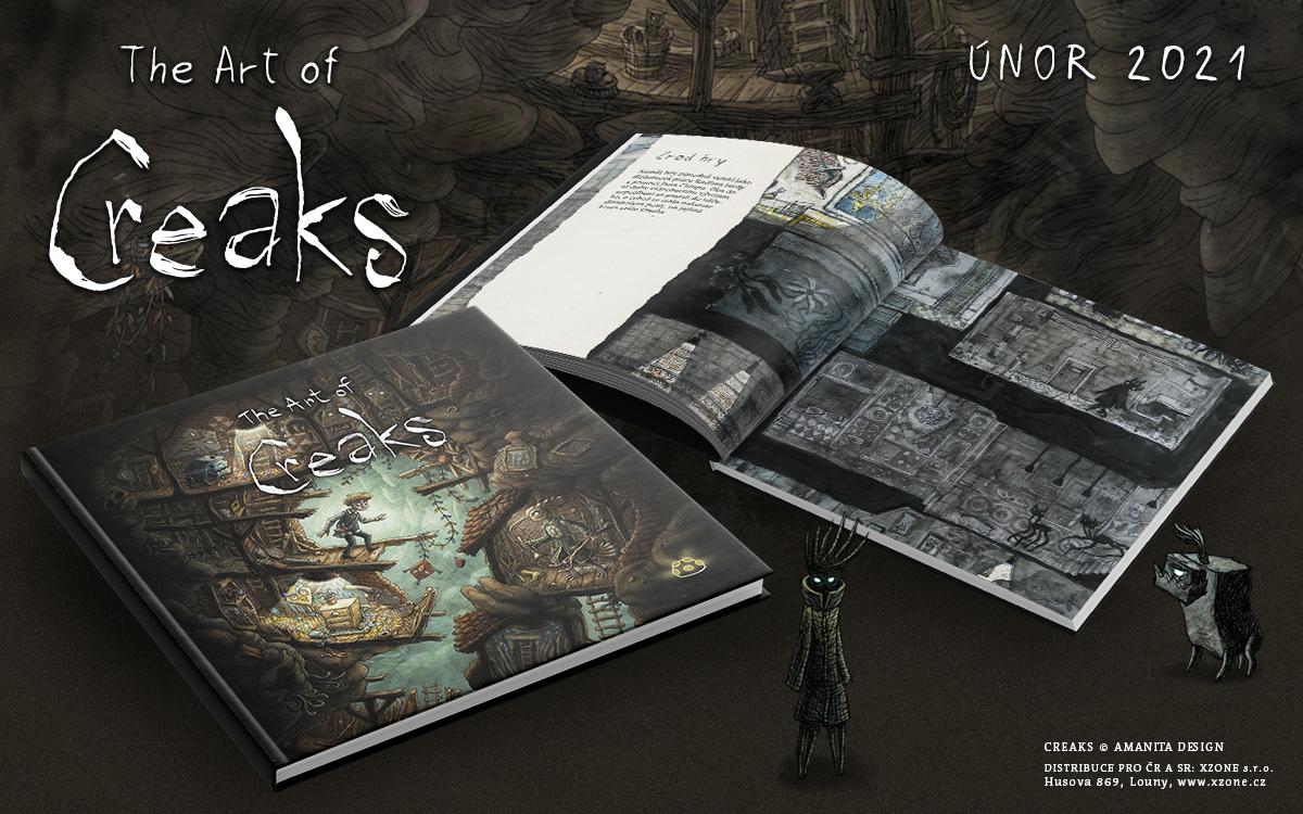 Oznámen artbook k české hře Creaks Artbook