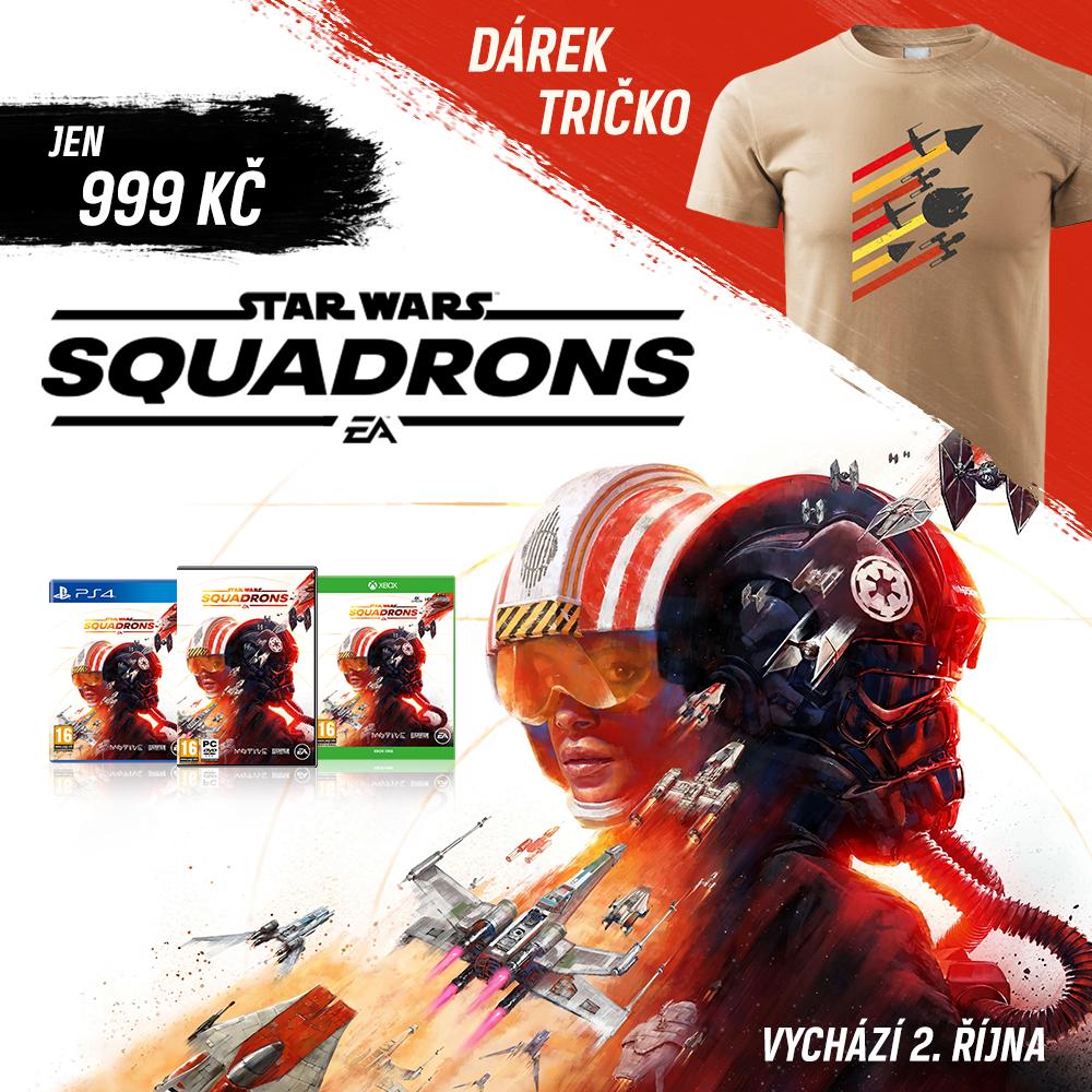 Nové Star Wars Squadrons přiletí s tričkem zdarma STARWARSSQUADRONS FB