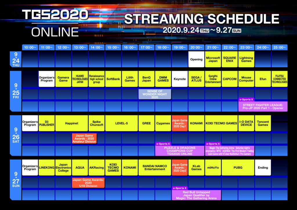 Známe program letošní Tokyo Game Show TGS 2020 Schedule 09 01 20
