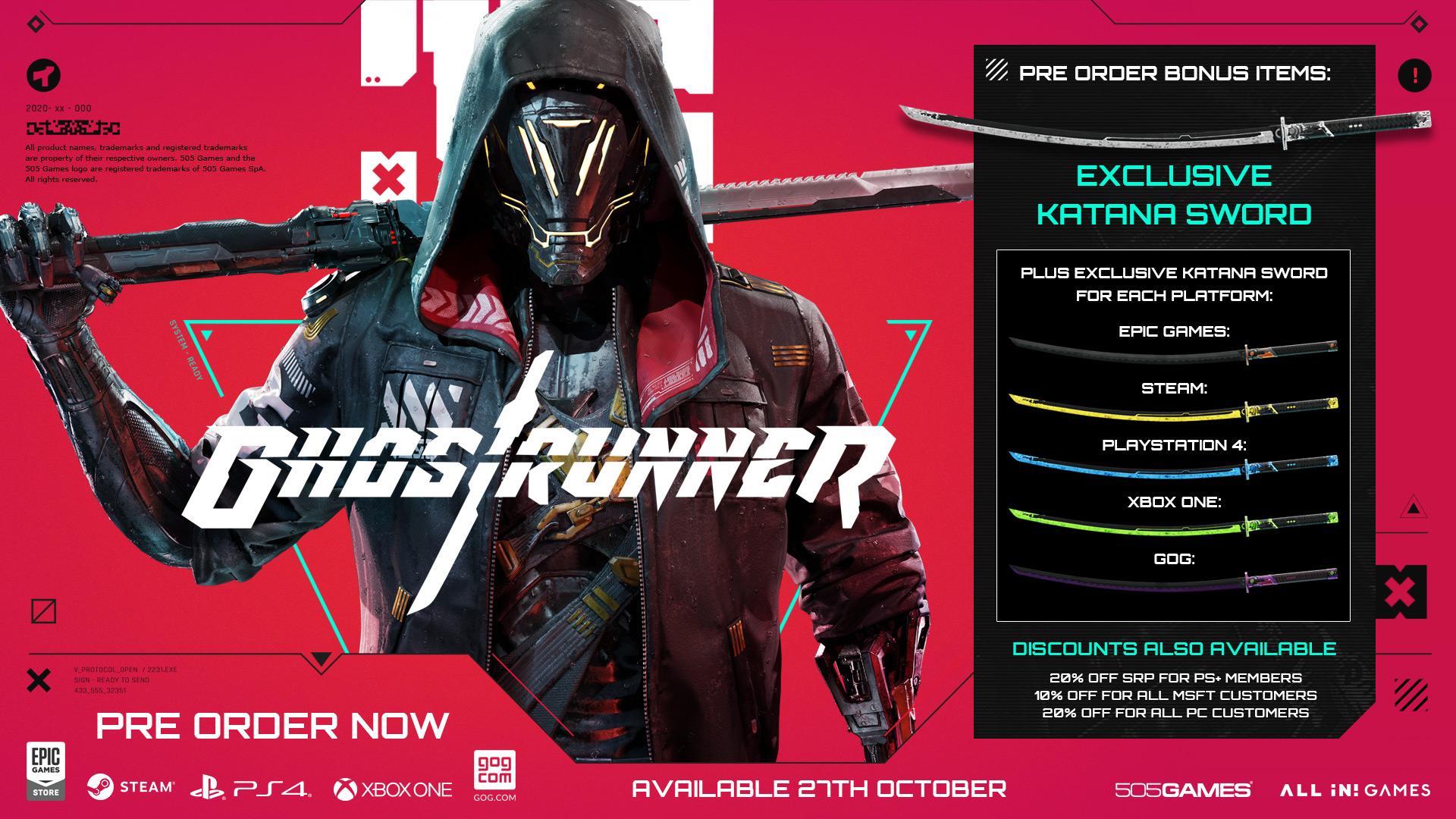 Cyberpunkový Ghostrunner má datum vydání ghostrunne 6