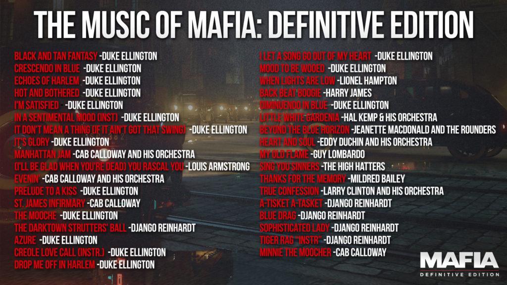 Seznam licencovaných písní v remaku Mafie mafiasongs