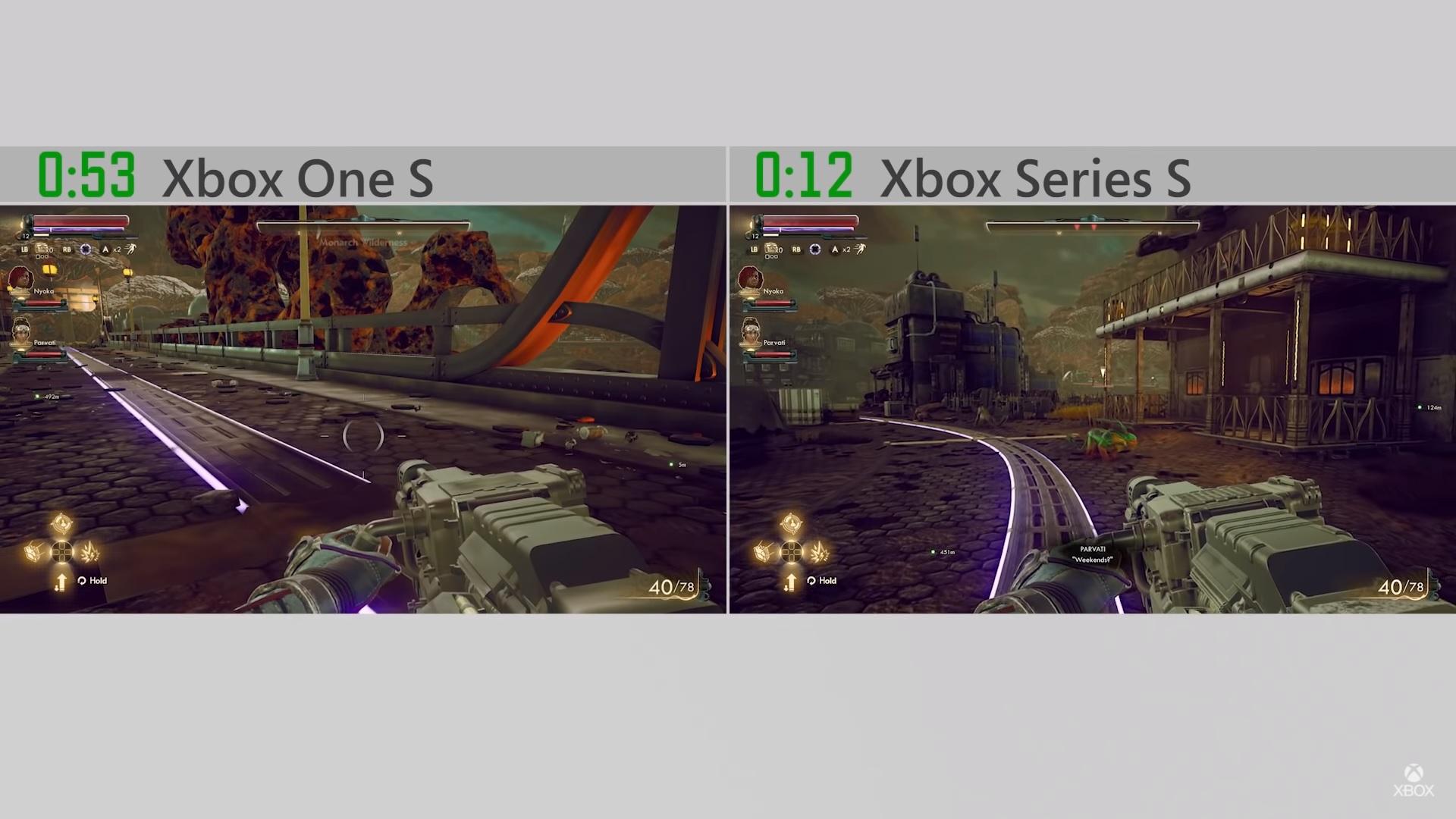 Další technické podrobnosti o Xbox Series S outerworlds