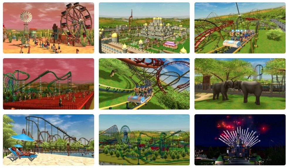 Vyjde kompletní RollerCoaster Tycoon 3 rollercoaster3complmosaic