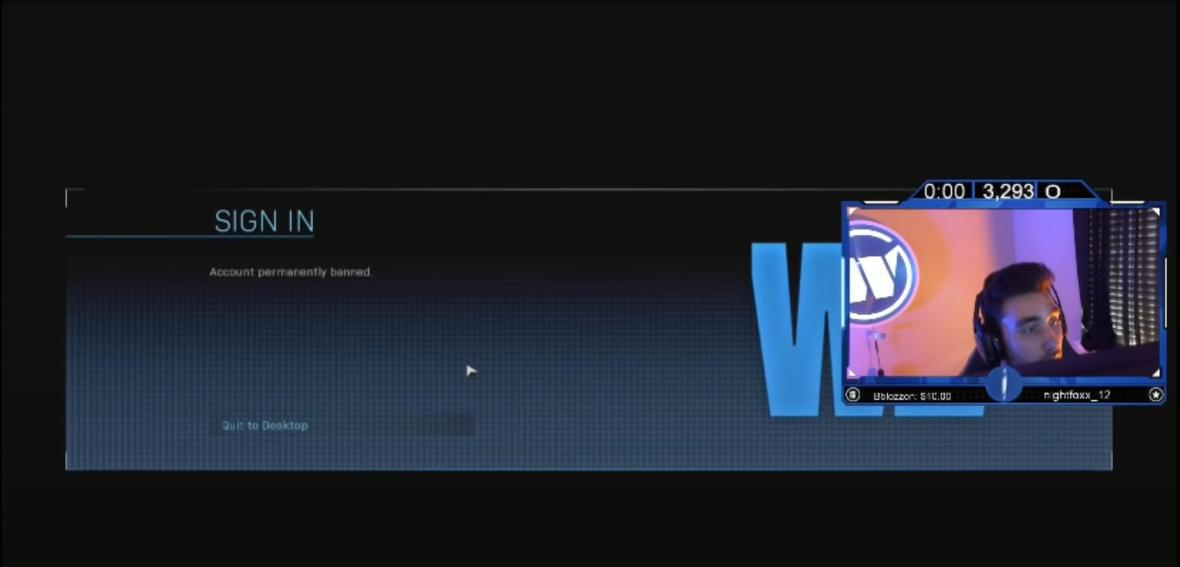 Tisícovky hráčů Call of Duty obdržely ban wafni3