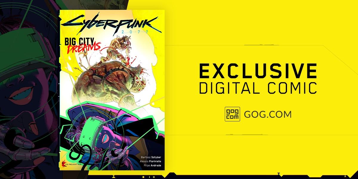 Nákupem Cyberpunk 2077 na GOGu získáte exkluzivní komiks Cyberpunk 1