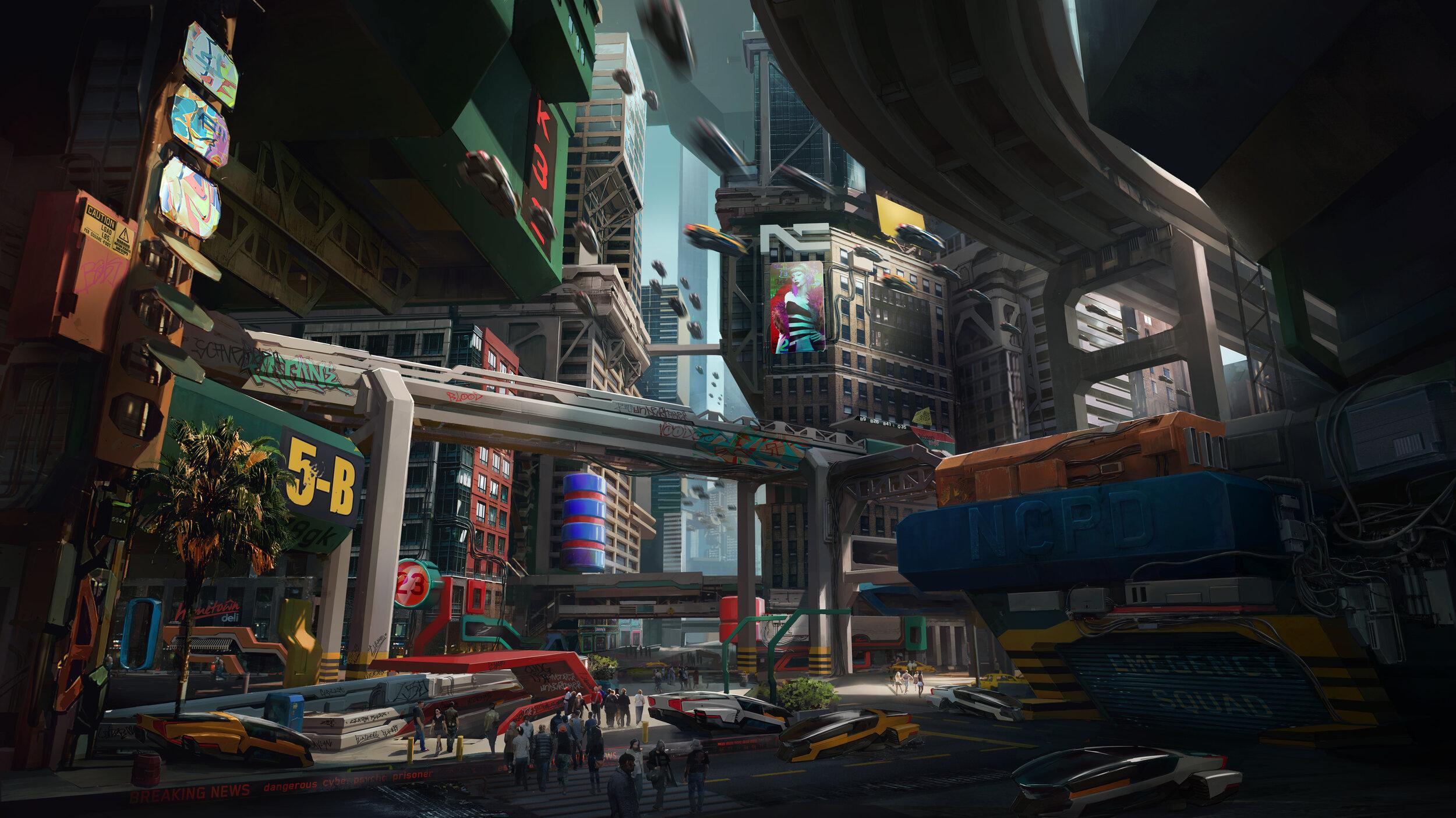 Preview Cyberpunk 2077 Cyberpunk2077 Watson exteriors Little China RGB