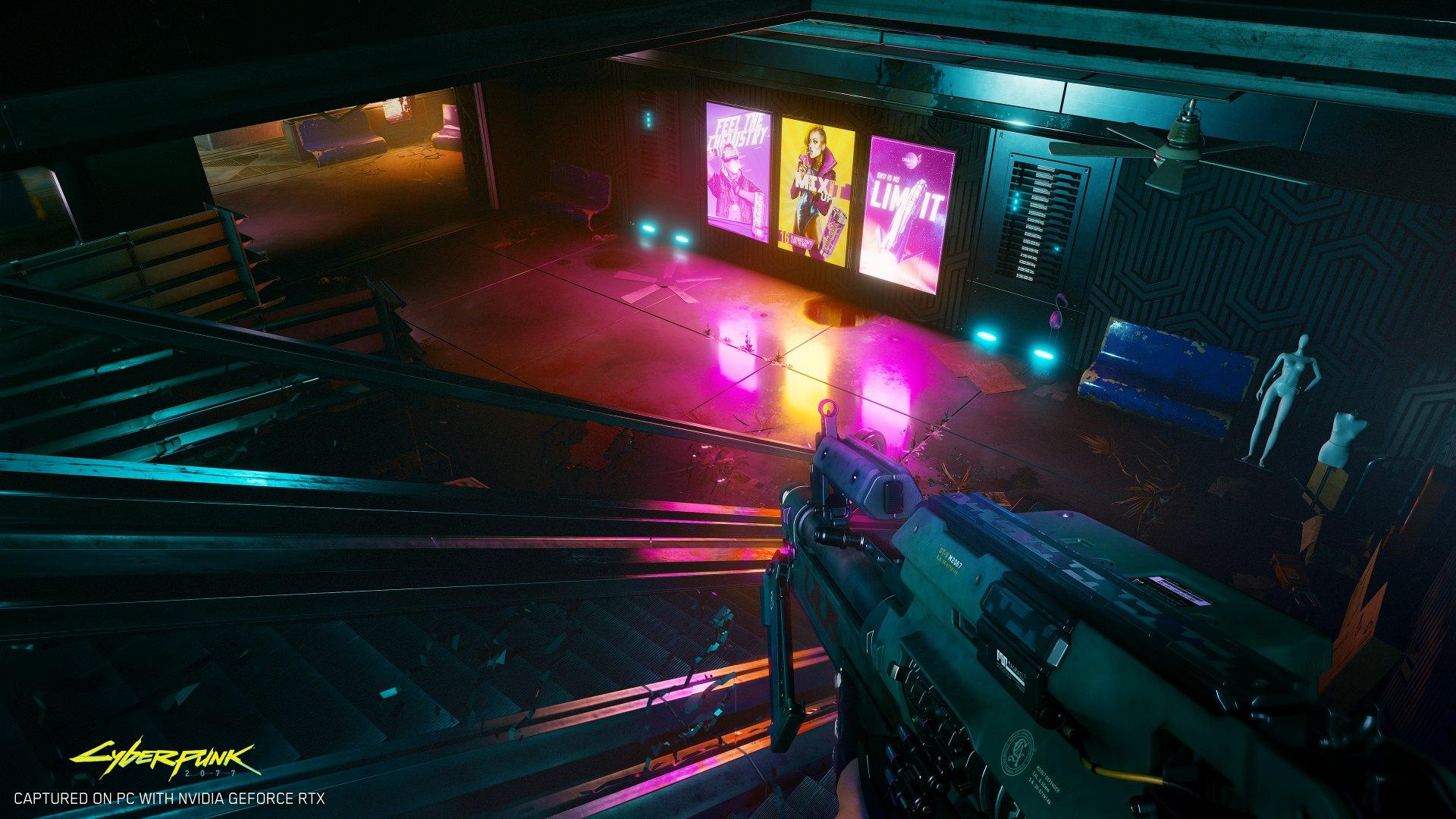 Preview Cyberpunk 2077 Cyberpunk2077 abandoned mall RGB en