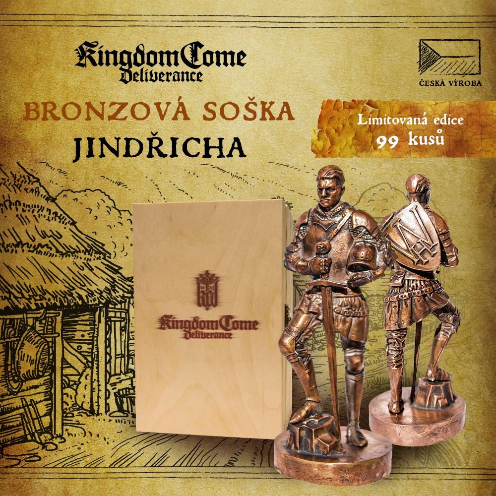 Unikátní bronzová soška Kingdom Come KCDSOSKA FB