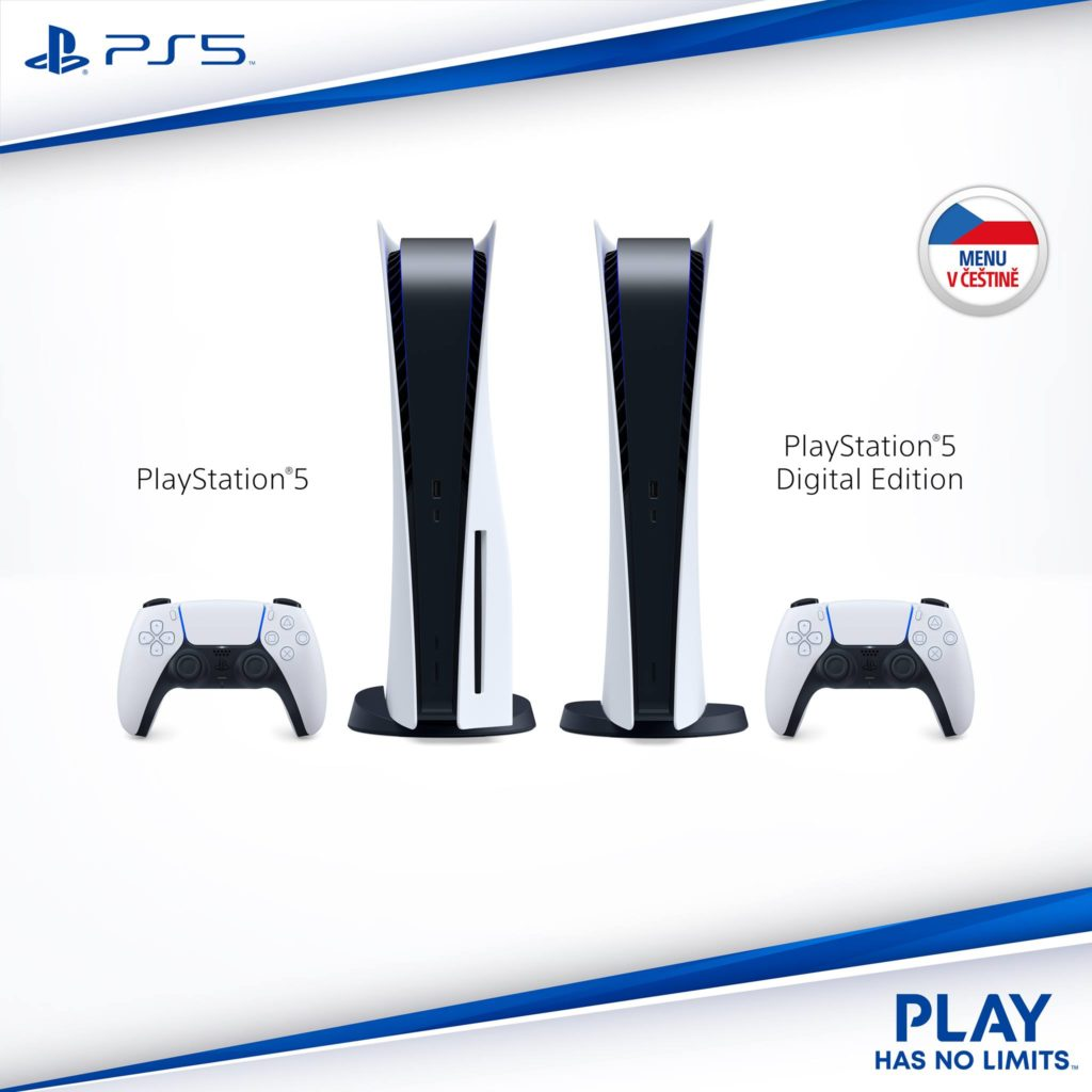 Menu konzole PlayStation 5 bude v češtině menucesky