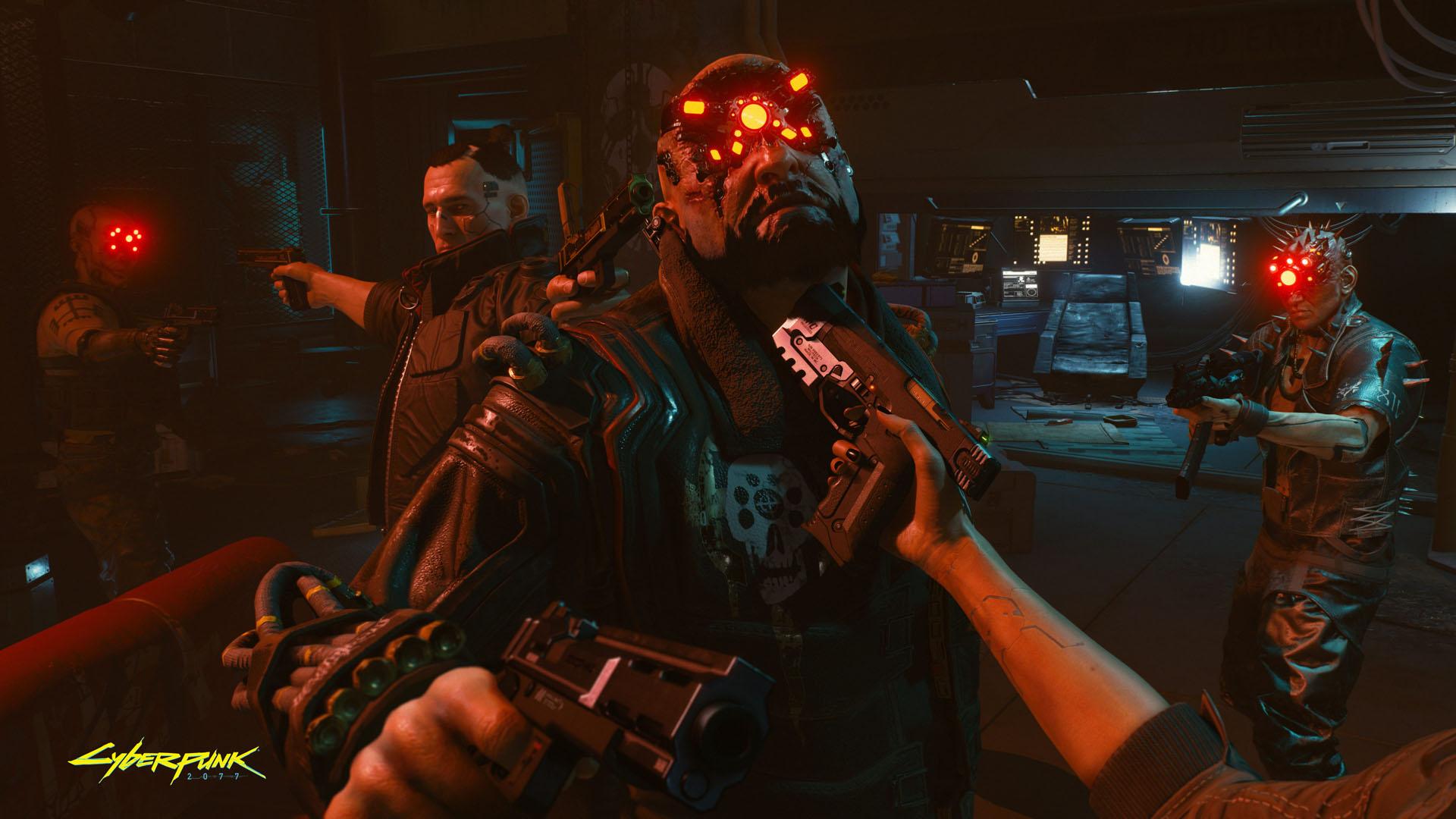 Preview Cyberpunk 2077 screen Cyberpunk2077 Outnumbered But Not Outgunned RGB en