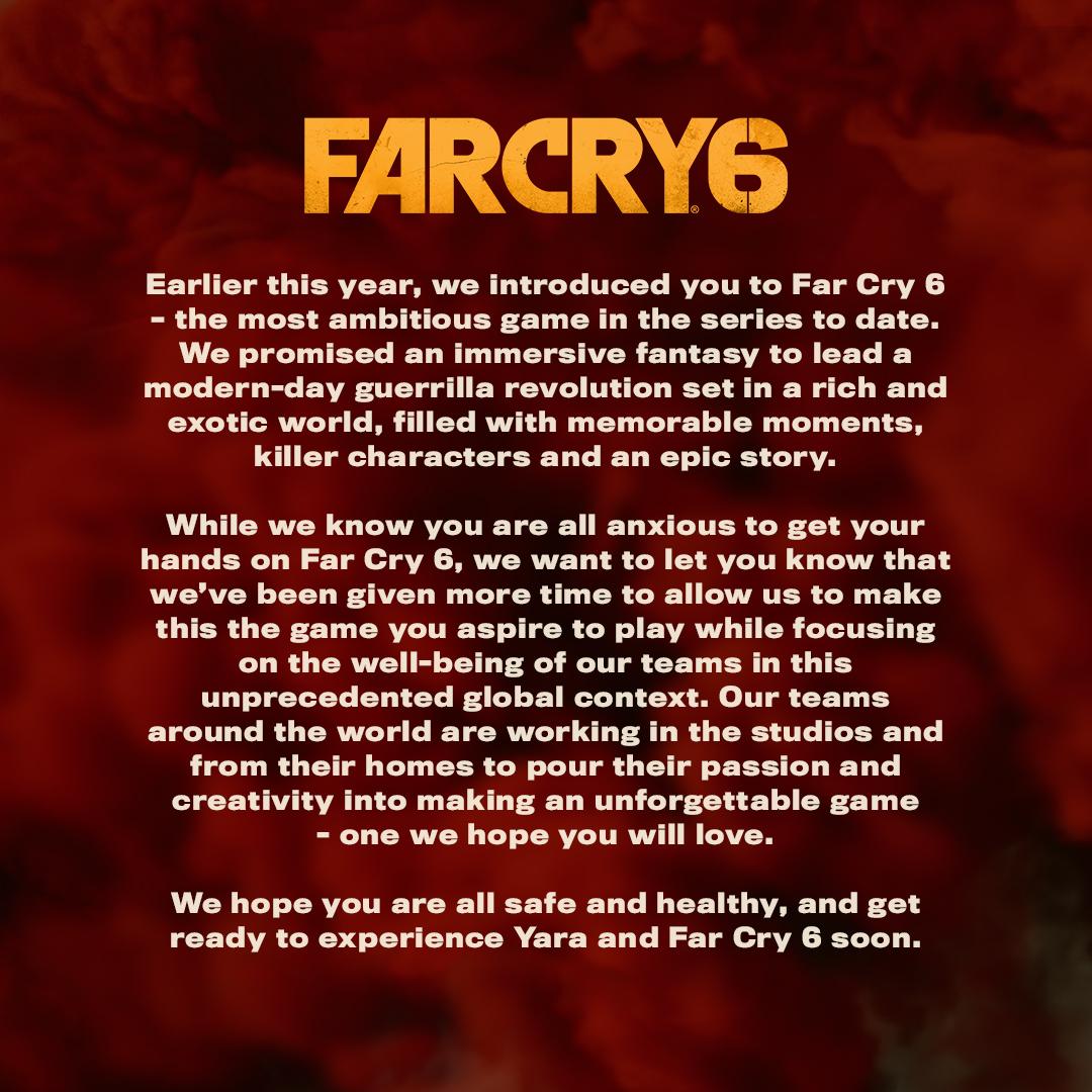 Far Cry 6 a Rainbow Six Quarantine odloženy ubisof