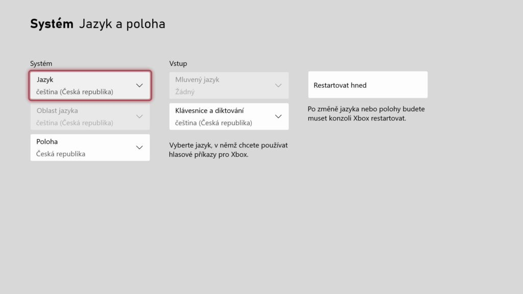Konzole Xbox dnes dostaly české a slovenské rozhraní xboxCZSK2