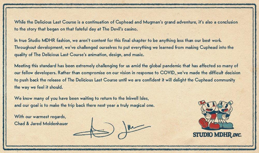 DLC The Delicious Last Course do Cupheada odloženo CUphead 1