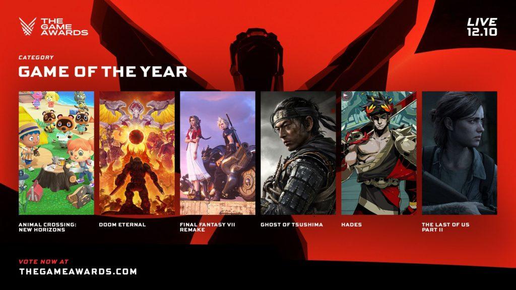 The Game Awards nominace na hry roku GOTYtga