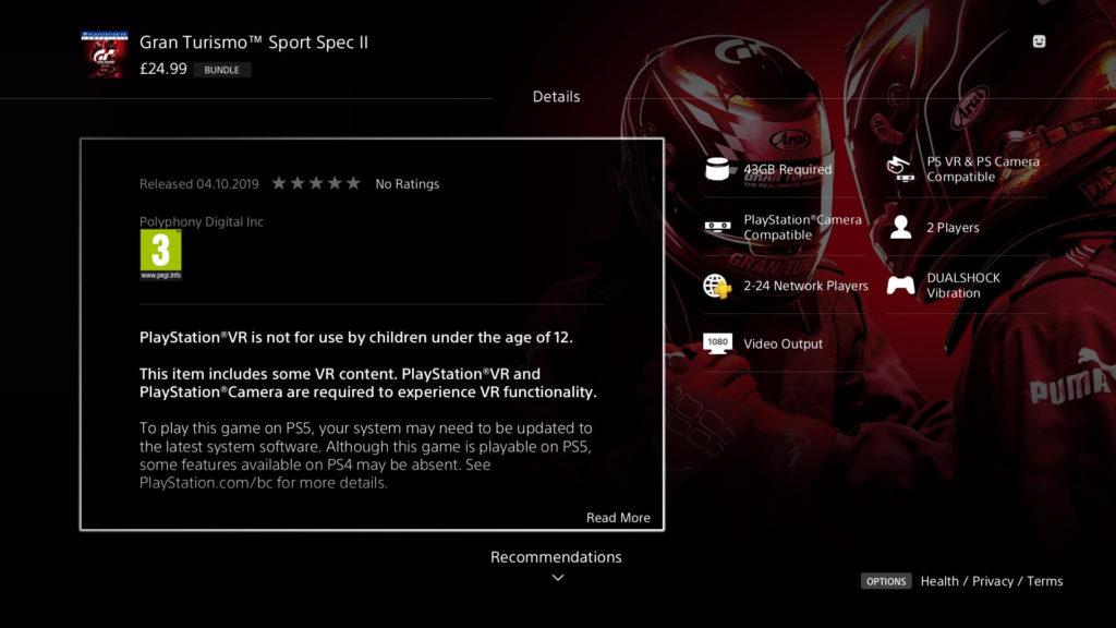 Gran Turismo 7 se blíží GTSportPS5