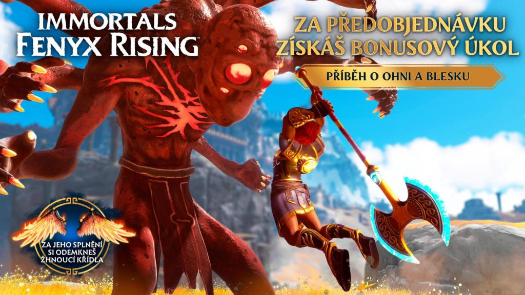 Recenze Immortals: Fenyx Rising vyjdou již dnes ORP PREORDER MOCKUP WIDE ENGLISH SOURCE CZ1