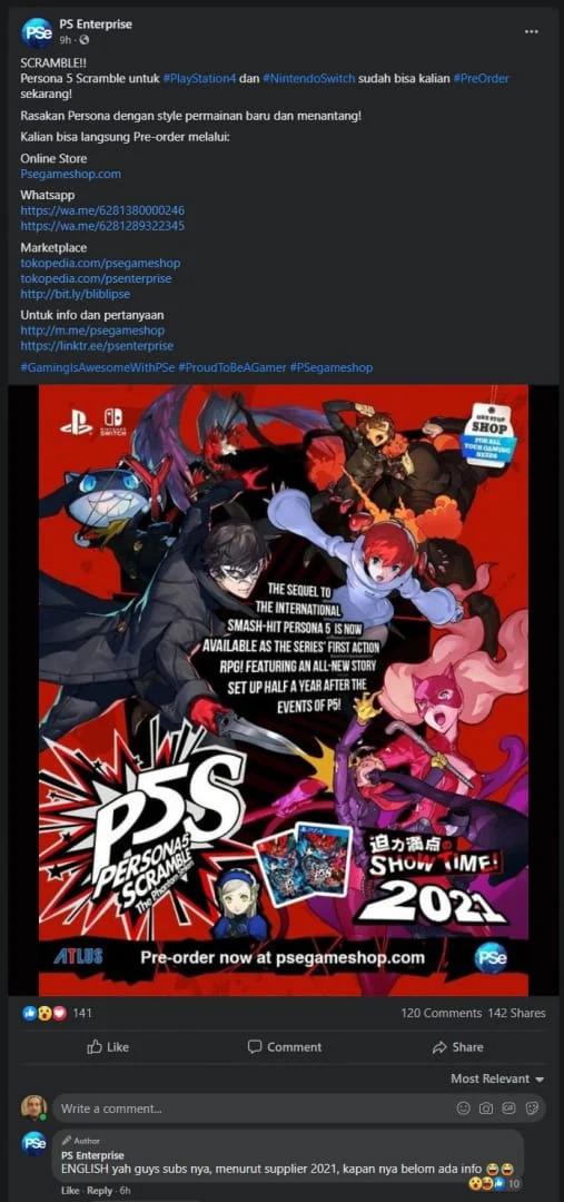 Persona 5 Scramble by na západě mohla vyjít v příštím roce P5 2