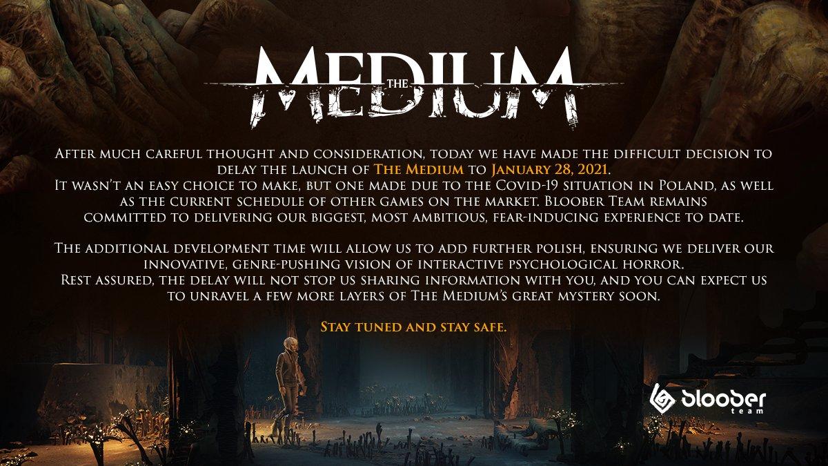 Nadějný horor The Medium odložen The Medium