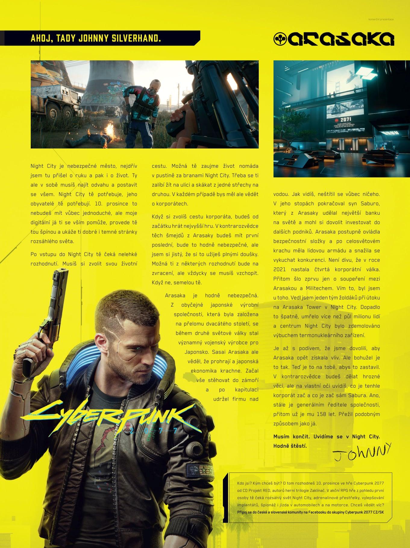 Johnny Silverhand má vzkaz pro všechny hráče čekající na Cyberpunk 2077 Zing Johnyho vzkaz