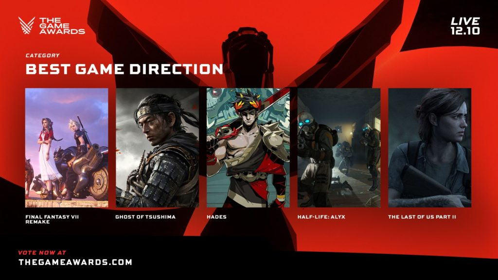 The Game Awards nominace na hry roku direction