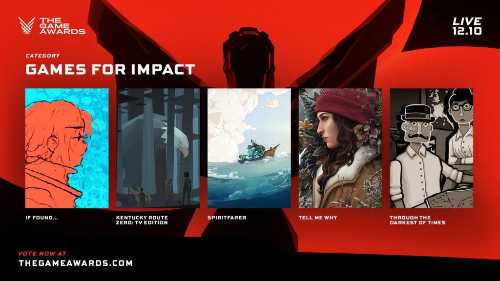 The Game Awards nominace na hry roku impact