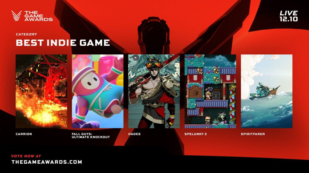 The Game Awards nominace na hry roku indie