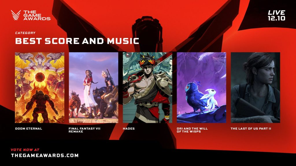 The Game Awards nominace na hry roku music