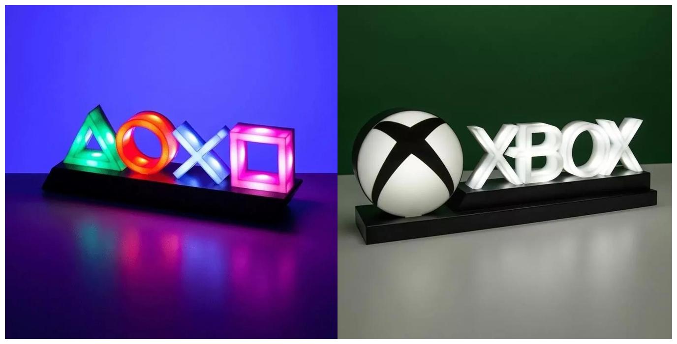 Originální lampičky s herními motivy pp4140pstx playstation icon light square lifestyle 3 2 horz