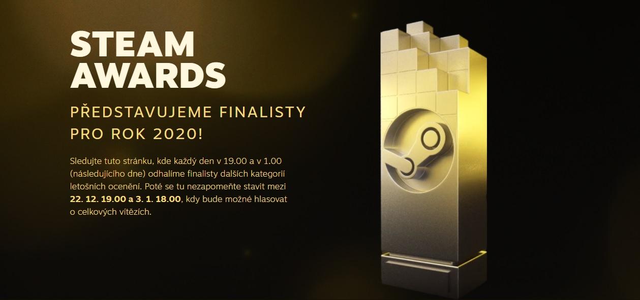 Odhaleny finální nominace pro Steam Awards Awards