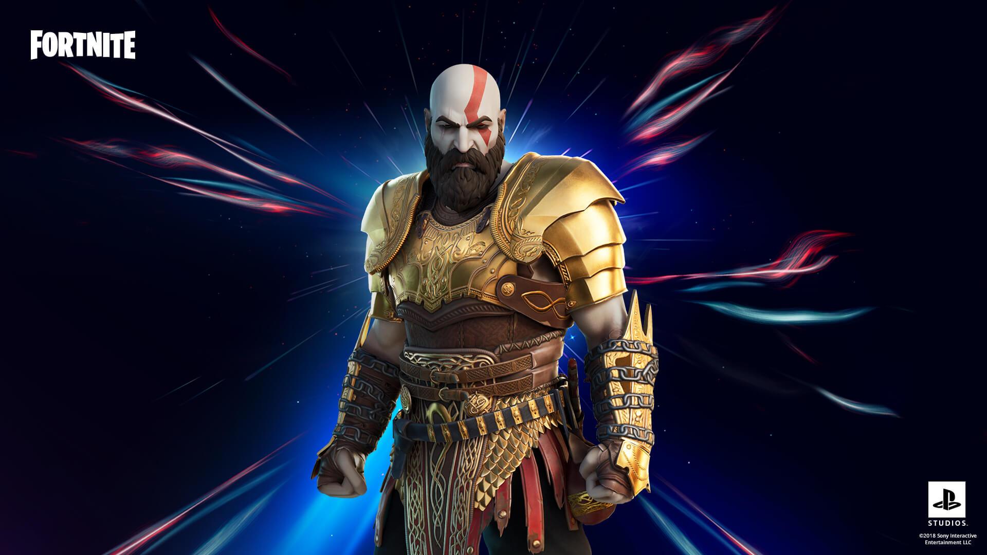 Kratos dorazil do Fortnite Brnění