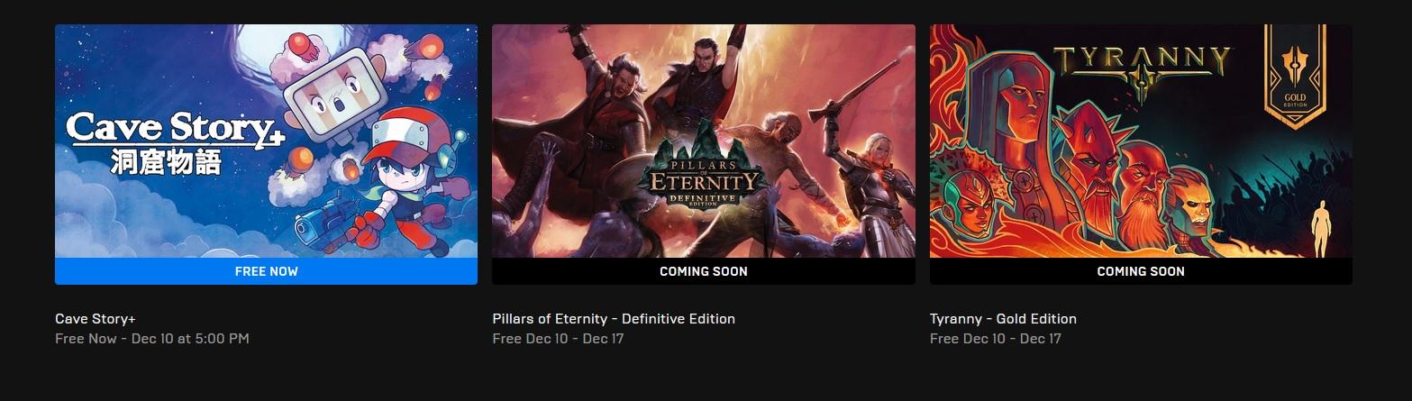 Příští týden dostaneme zdarma hry od Obsidian Entertainment Epic