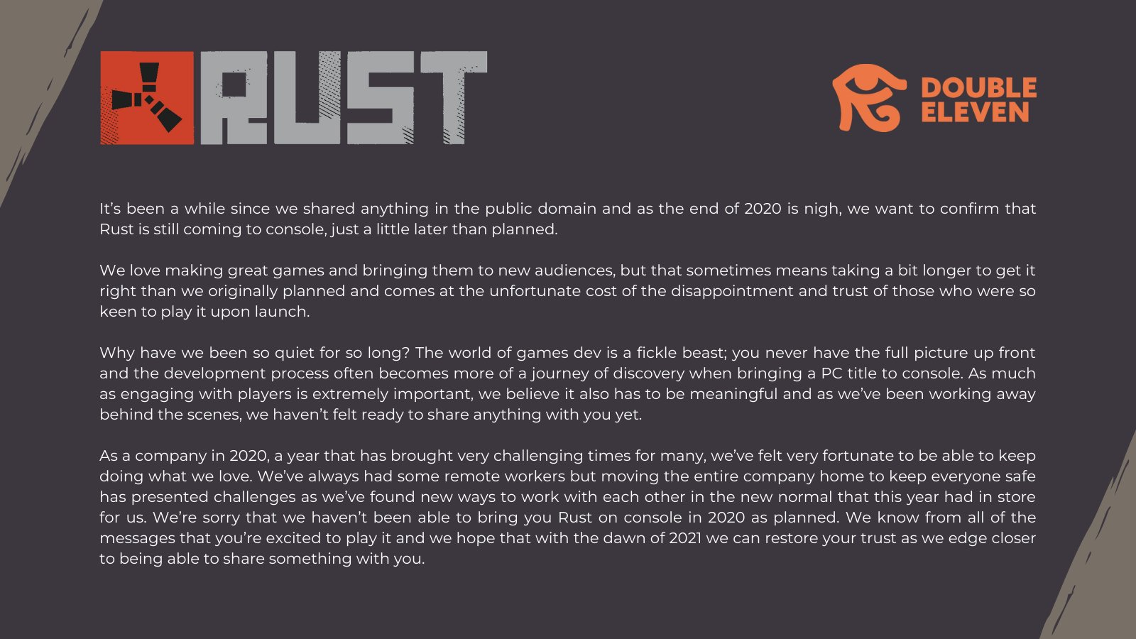 Konzolová verze Rust odložena RUST 1