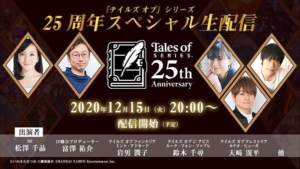 Přehled novinek z Japonska ze 49. týdne Tales of Series 25th 12 03 20